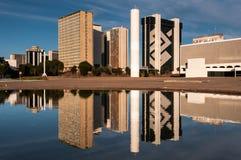 Secteur financier de ville de Brasilia photos stock