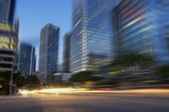 Secteur financier du centre Brickell de Miami Photo stock