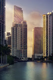 Secteur financier du centre Brickell de Miami photographie stock