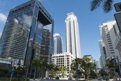 Secteur financier du centre de Miami Photos libres de droits