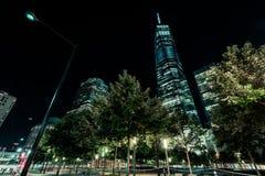Secteur financier la nuit photo libre de droits