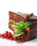secteur frais de dessert de chocolat de baies image libre de droits