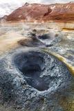 Secteur géothermique renversant, Islande Images libres de droits