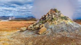 Secteur géothermique stupéfiant, Islande Photos stock
