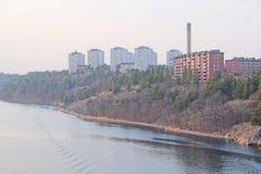 Secteur habité à Stockholm image libre de droits