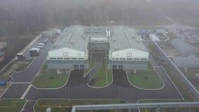 Secteur industriel d'installation, vue aérienne banque de vidéos