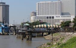 Secteur industriel de bord de mer à la Nouvelle-Orléans image libre de droits