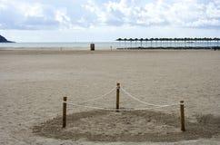 Secteur marqué sur la plage Images libres de droits