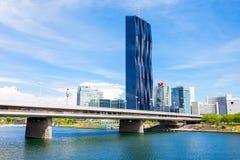 Secteur moderne de Danube, Vienne photo libre de droits