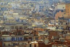 Secteur résidentiel en masse peuplé à Salonique - en Grèce occidentales Photographie stock libre de droits
