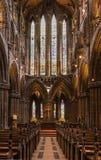 Secteur reculé intérieur de choeur chez Glasgow Cathedral, Ecosse R-U photographie stock libre de droits