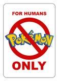 Secteur restreint pour Pokemon illustration de vecteur