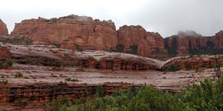 Secteur rouge célèbre de roche de Sedona photos stock