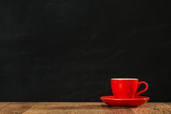 Secteur rouge de conception de blanc d'exposition de tasse de café de plat Image libre de droits