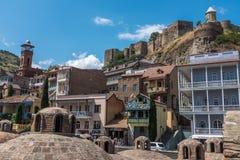 Secteur Tbilisi la Géorgie de bain public d'Abanotubani Photo libre de droits
