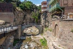 Secteur Tbilisi la Géorgie de bain public d'Abanotubani Photos libres de droits