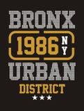 Secteur urbain de Bronx, vecteur Images libres de droits