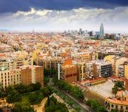 Secteurs résidentiels de ville de Barcelone de Sagrada Familia Photos stock