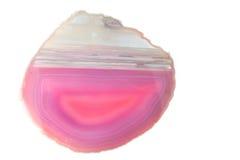 Sectie van een roze geode Royalty-vrije Stock Foto