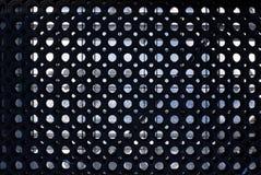 Sectie van een zwarte uiterst robuuste rings rubbermat voor de industrie en workshop stock afbeelding