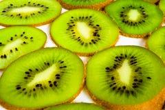Sectie van kivifruit Stock Foto
