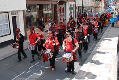 Section 5 drummers, Hastings Stock Image