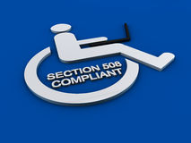 Section 508 accessibility disability Royalty Free Stock Images