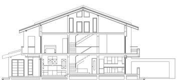 Section américaine moderne de façade de Chambre illustration libre de droits