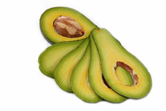 Section of avocado Stock Image