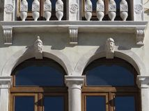 Section of a beautiful Renaissance facade Royalty Free Stock Photo