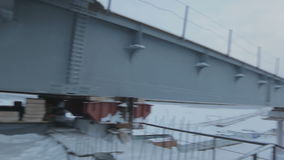 Section of Bridge Construction above Arctic Circle stock footage