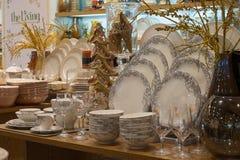 Section ceramic tableware in supermarket Siam Paragon.  Bangkok, Thailand Stock Photo