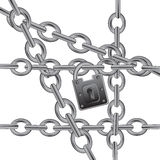 Section chain on lock Royalty Free Stock Photo