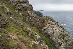 Coastal Path to Botallack, Cornwall UK stock photo
