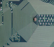 Section of computer circuit board Stock Image