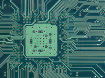 Section of computer circuit board Royalty Free Stock Photography