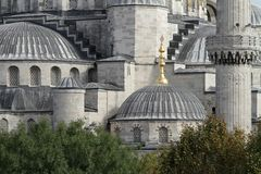 Section of the conqueror sultan mehmet mosque royalty free stock photo