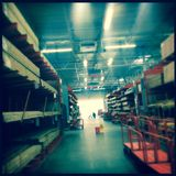 Section de bois de charpente de Home Depot Image stock