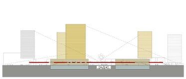 Section de centre multifonctionnelle Images stock