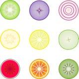 Section de fruits et légumes à l'intérieur Image libre de droits