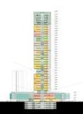 Section de gratte-ciel Image stock