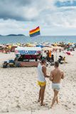 Section de LGBT de plage dans Ipanema, Rio de Janeiro, Brésil Photos libres de droits