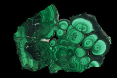 Section de malachite Image stock