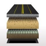 Section de route goudronnée illustration stock