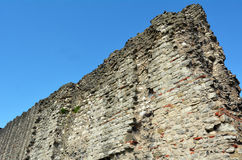 Section du mur romain, colline Londres, R-U de tour Images stock