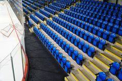 A Seat Section of Empty Ice Hockey Rink Stock Image