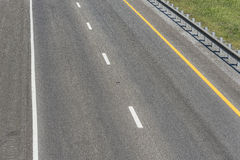 Section of Empty Interstate Highway stock photos