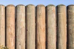 Section en bois de frontière de sécurité de Pôle Photo libre de droits