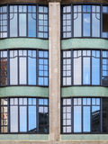 Facade in Berlin Center vertical. Section of the facade of the reconstructed WMF house in Berlin-Mitte on Leipziger Strasse, opposite the Telecommunications Royalty Free Stock Photos