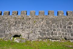 Section of the fortress wal Royalty Free Stock Photography